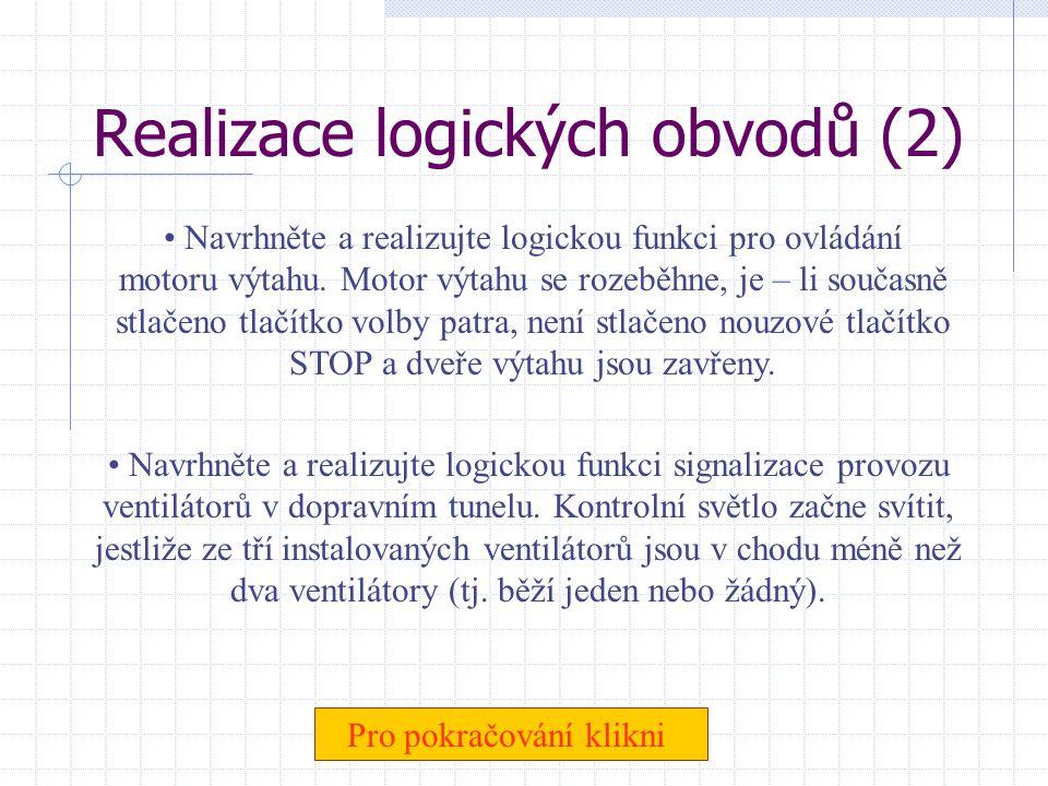 Realizace logických obvodů (2)