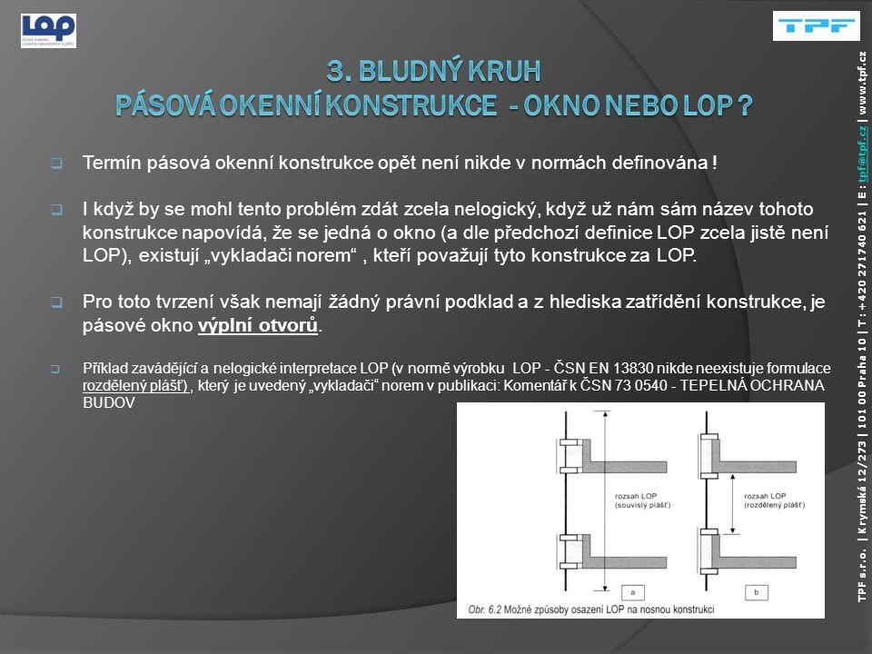 3. Bludný kruh pásová okenní konstrukce - okno nebo lop