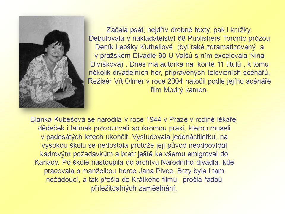 Začala psát, nejdřív drobné texty, pak i knížky