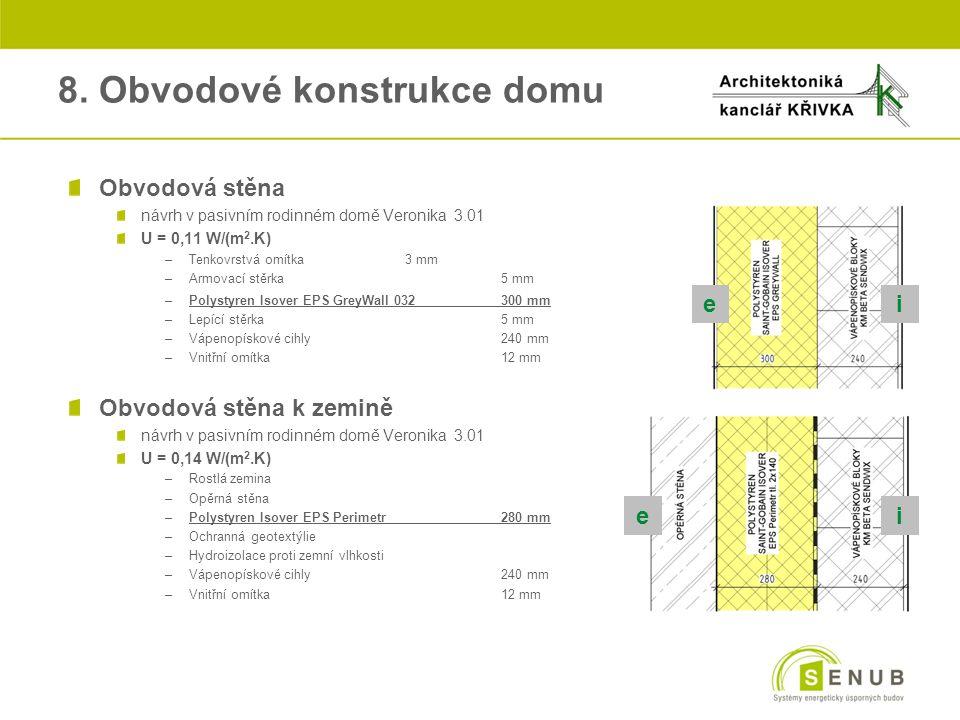 8. Obvodové konstrukce domu