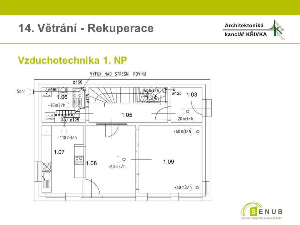 14. Větrání - Rekuperace Vzduchotechnika 1. NP