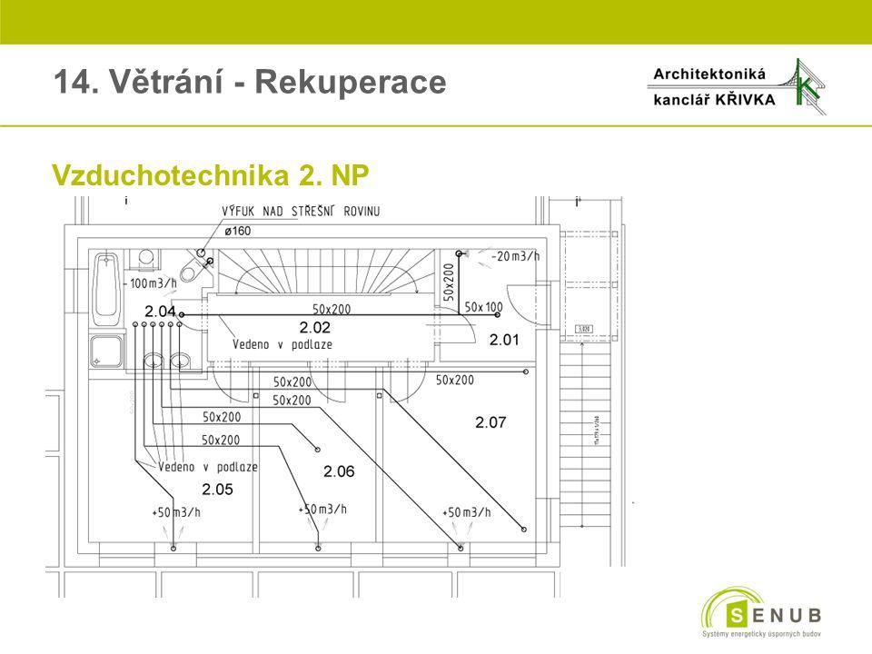 14. Větrání - Rekuperace Vzduchotechnika 2. NP
