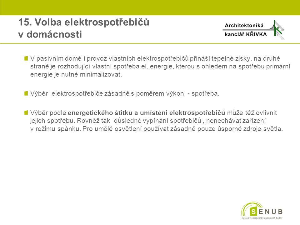 15. Volba elektrospotřebičů v domácnosti