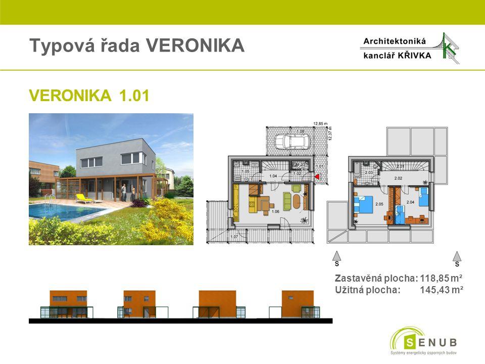 Typová řada VERONIKA VERONIKA 1.01 Zastavěná plocha: 118,85 m²