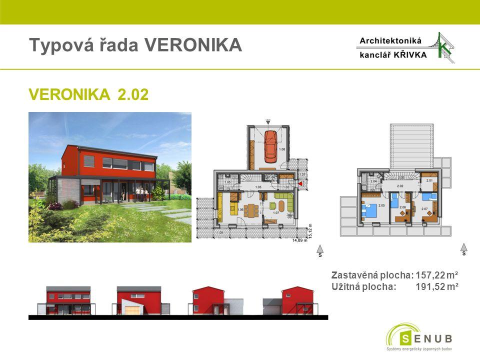 Typová řada VERONIKA VERONIKA 2.02 Zastavěná plocha: 157,22 m²