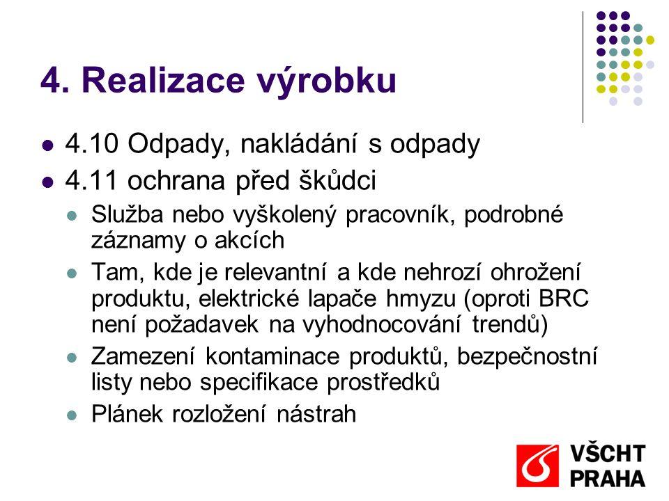 4. Realizace výrobku 4.10 Odpady, nakládání s odpady