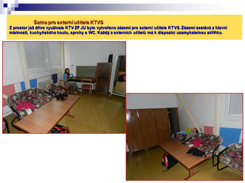Šatna pro externí učitele KTVS Z prostor jež dříve využívala KTV ZF JU bylo vytvořeno zázemí pro externí učitele KTVS.