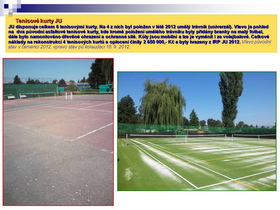 Tenisové kurty JU JU disponuje celkem 6 tenisovými kurty