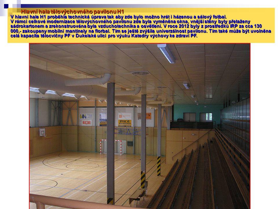 Hlavní hala tělovýchovného pavilonu H1