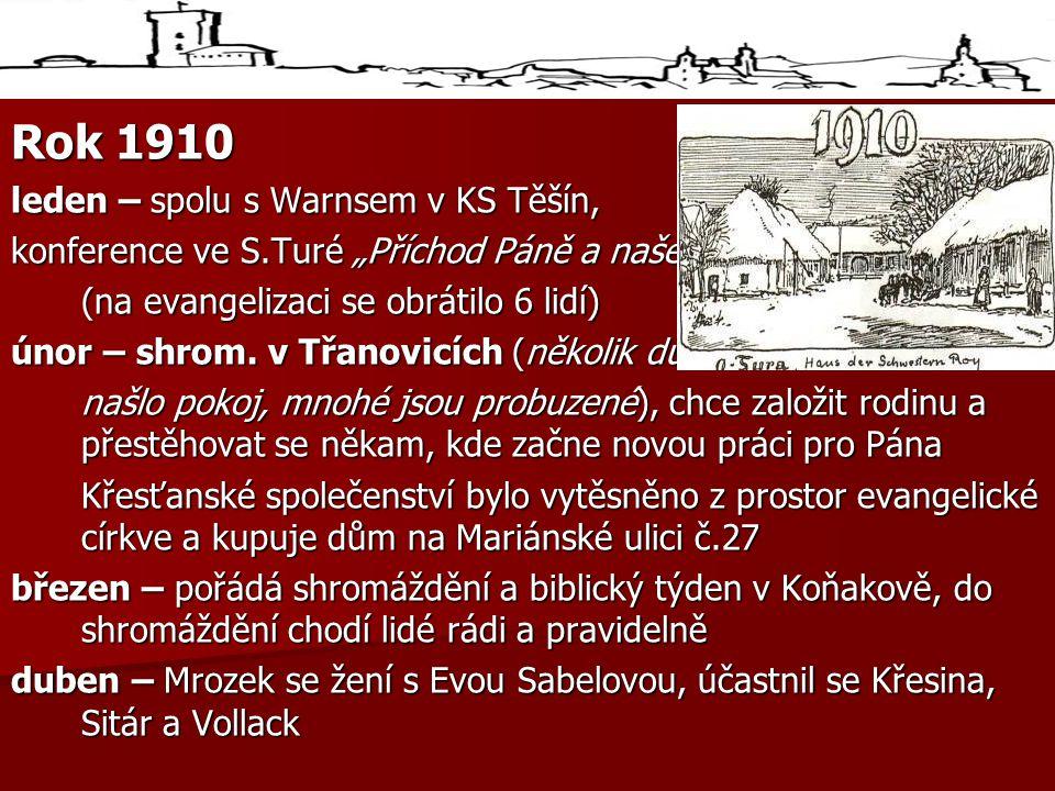 Rok 1910 leden – spolu s Warnsem v KS Těšín,