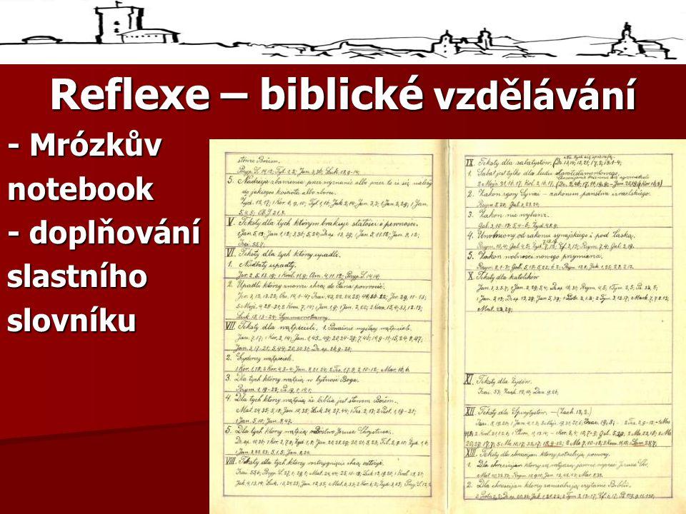 Reflexe – biblické vzdělávání