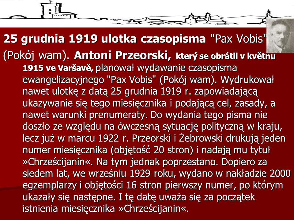 25 grudnia 1919 ulotka czasopisma Pax Vobis