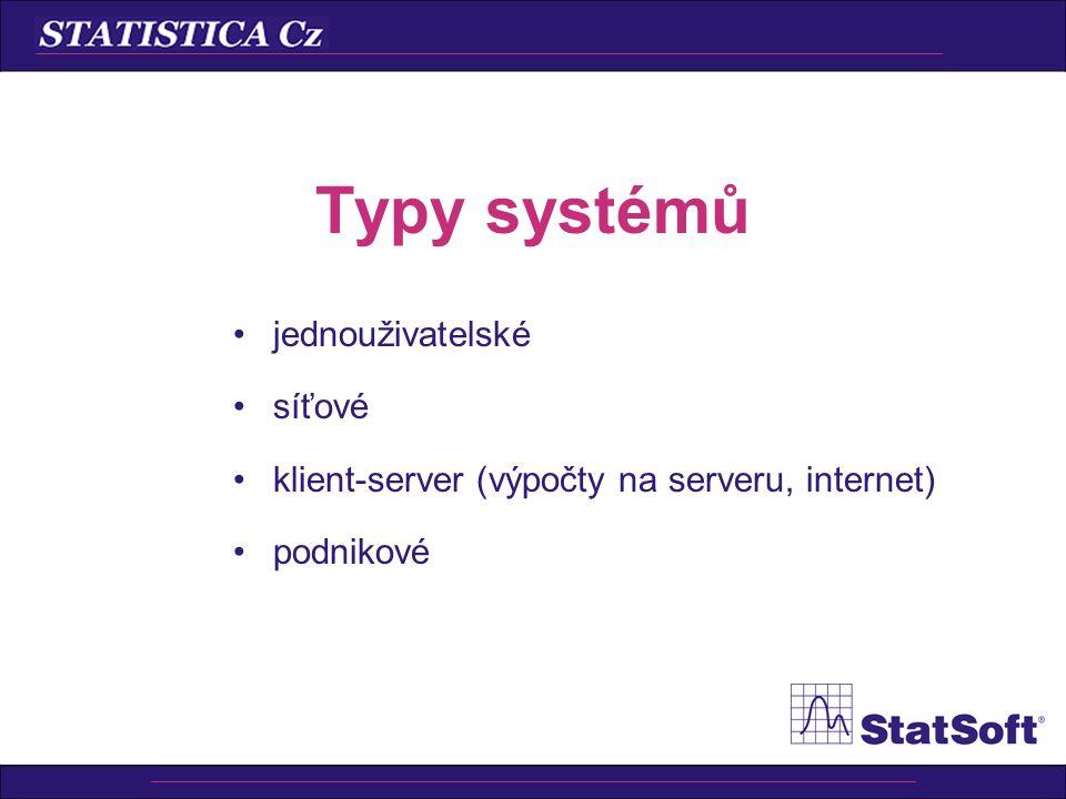 Typy systémů jednouživatelské síťové