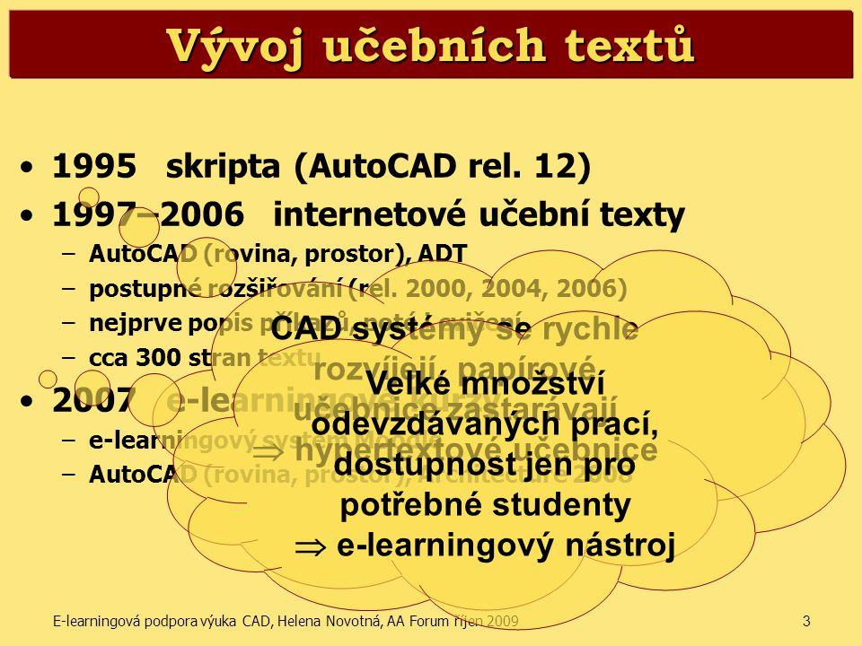 Vývoj učebních textů 1995 skripta (AutoCAD rel. 12)