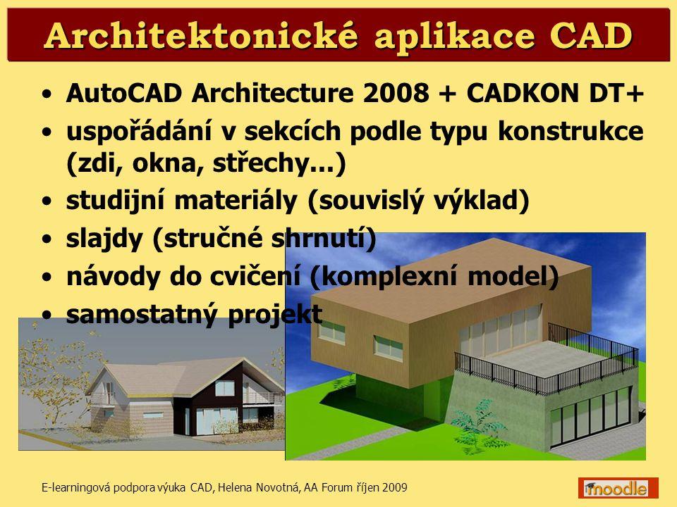 Architektonické aplikace CAD