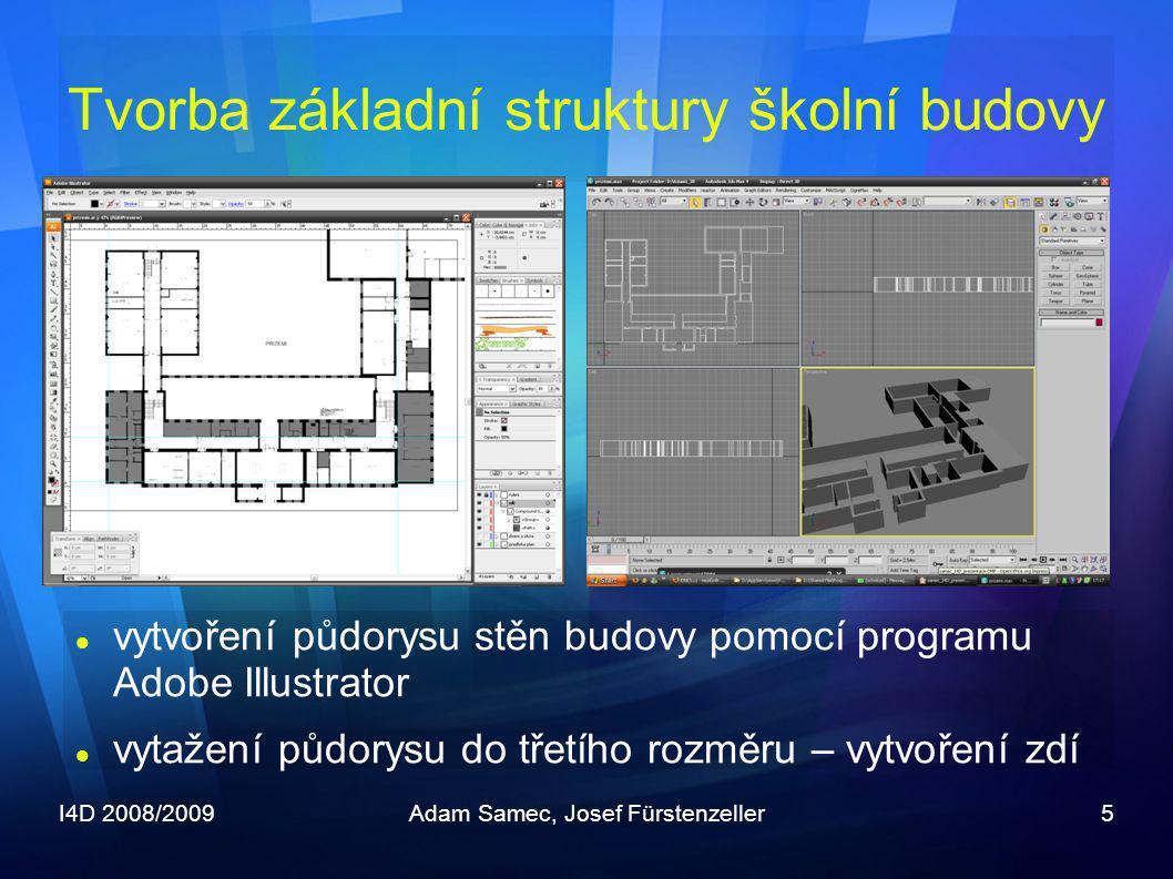 Tvorba základní struktury školní budovy