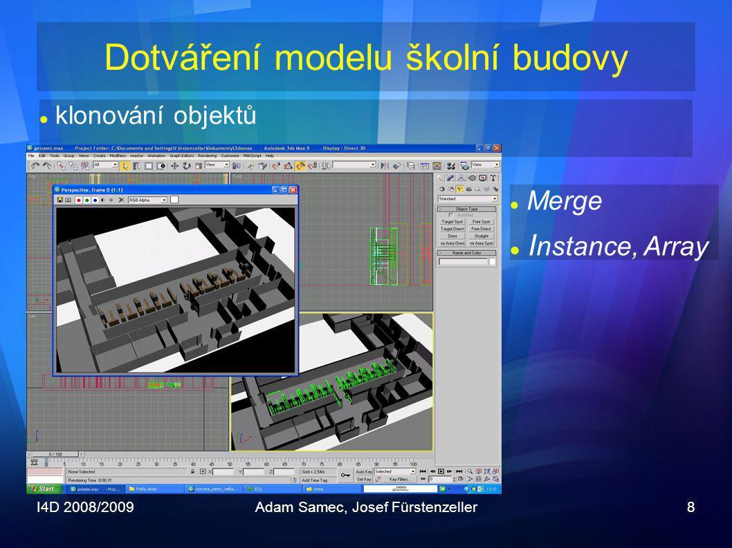 Dotváření modelu školní budovy