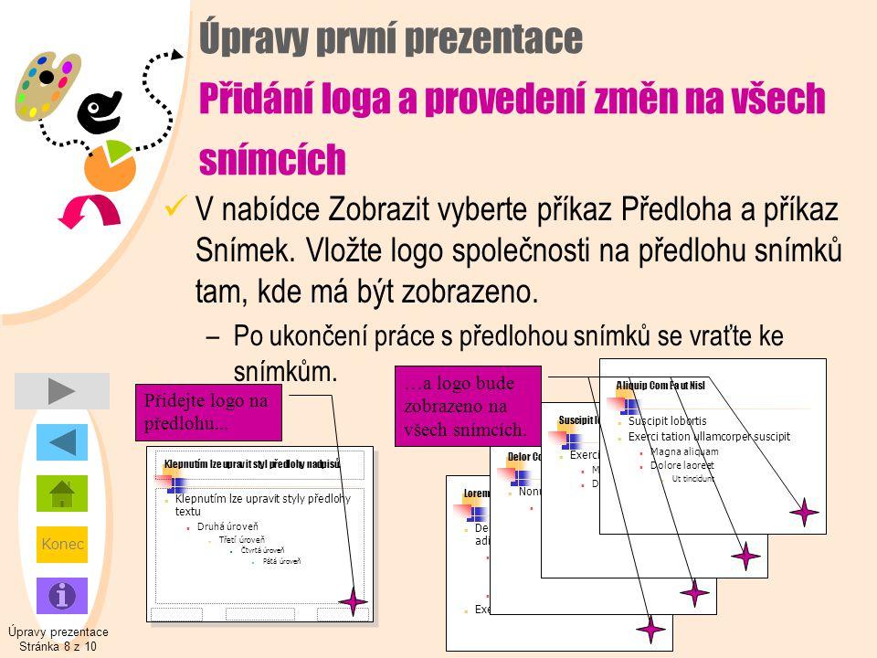 Úpravy prezentace Stránka 8 z 10