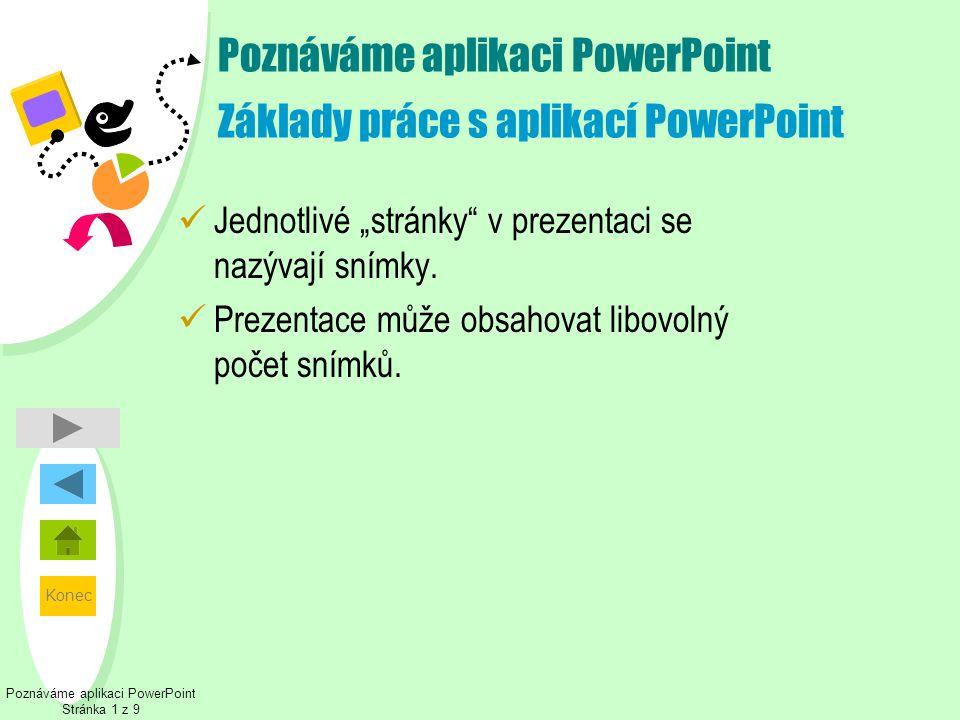 Poznáváme aplikaci PowerPoint Základy práce s aplikací PowerPoint