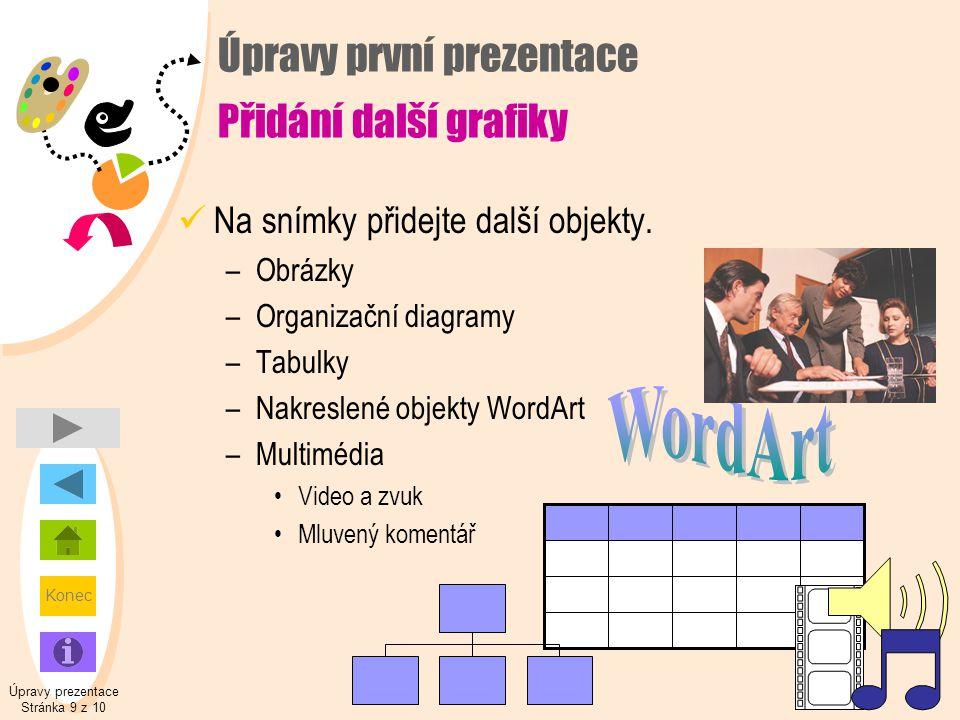 Úpravy první prezentace Přidání další grafiky