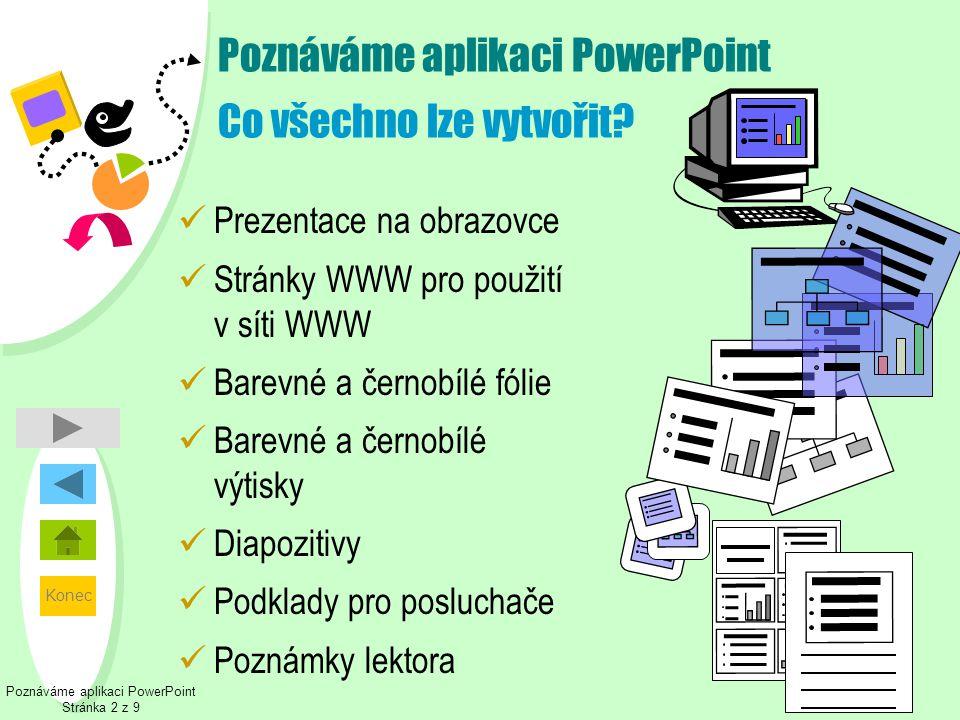 Poznáváme aplikaci PowerPoint Co všechno lze vytvořit