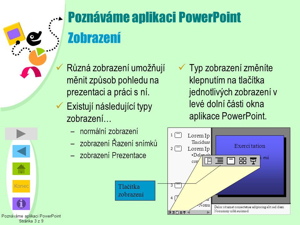 Poznáváme aplikaci PowerPoint Zobrazení