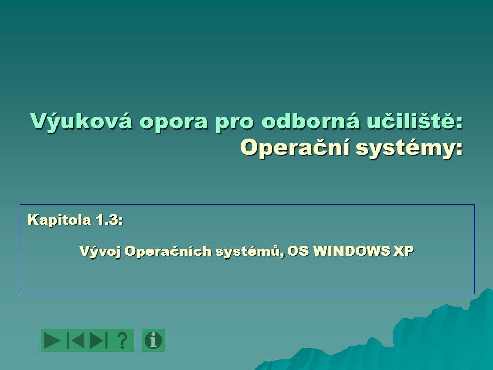 Výuková opora pro odborná učiliště: Operační systémy: