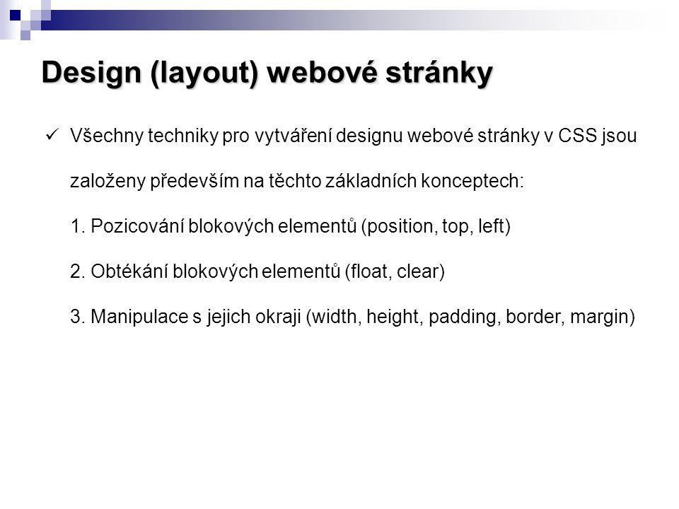 Design (layout) webové stránky