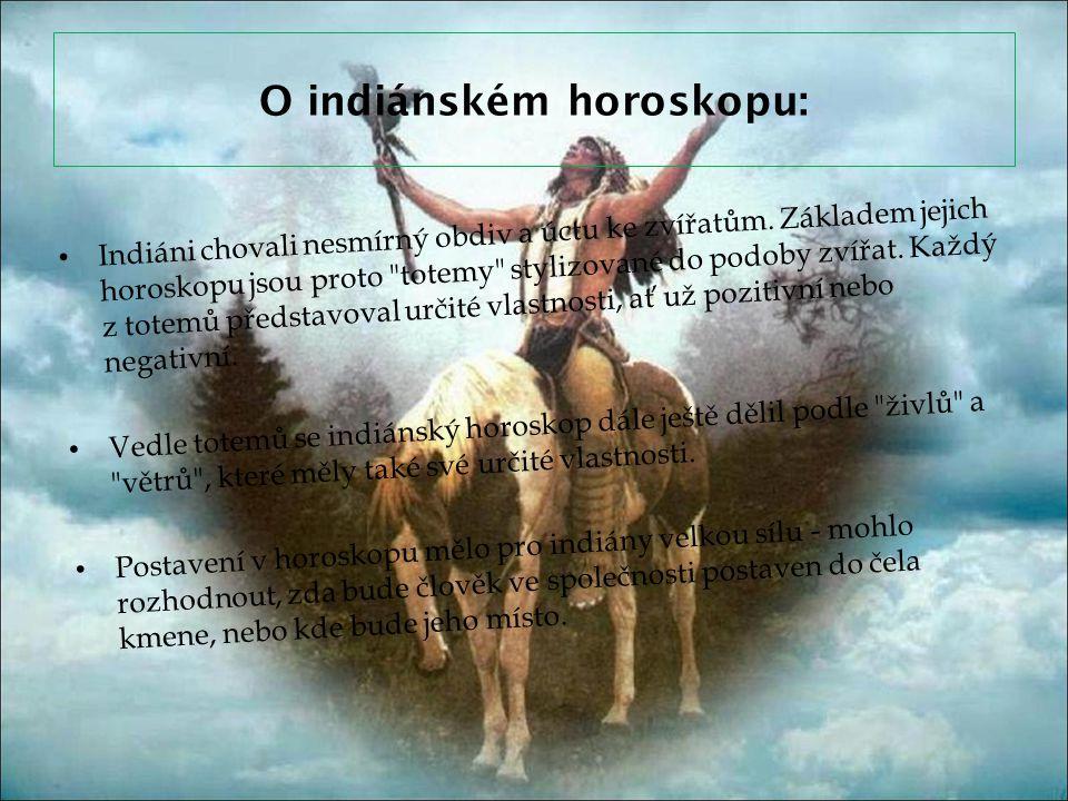 O indiánském horoskopu: