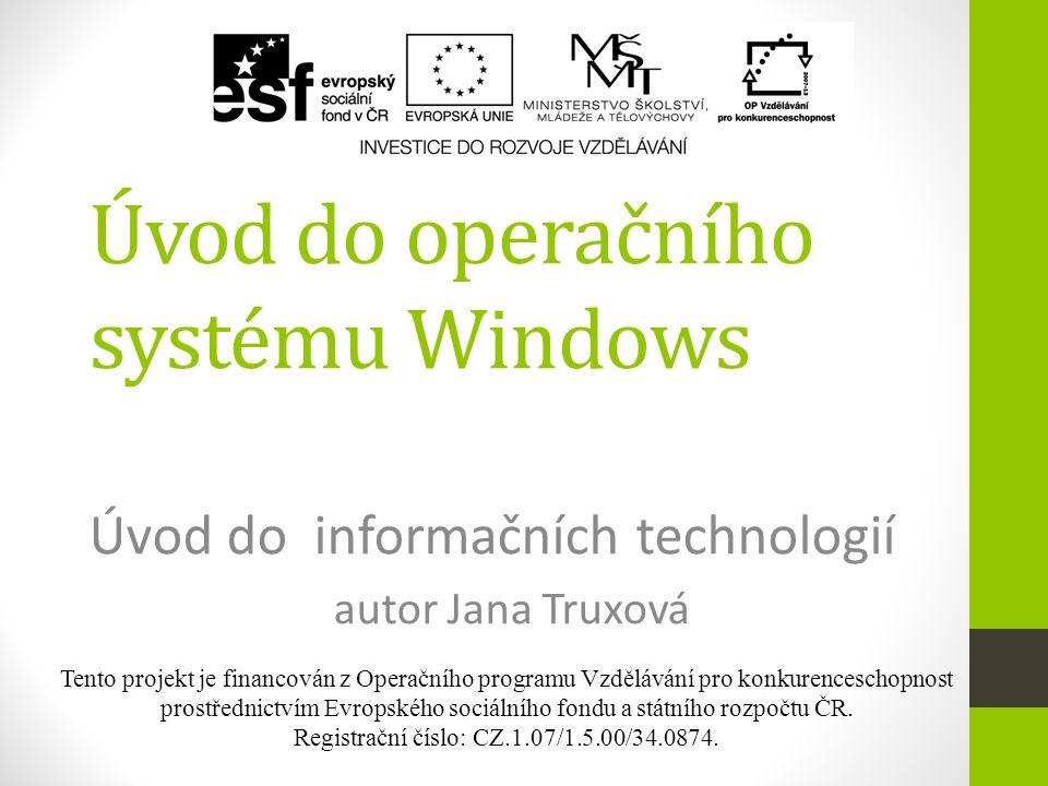 Úvod do operačního systému Windows