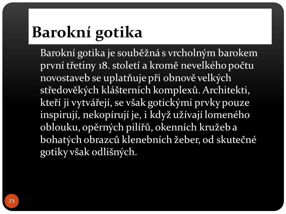 Barokní gotika
