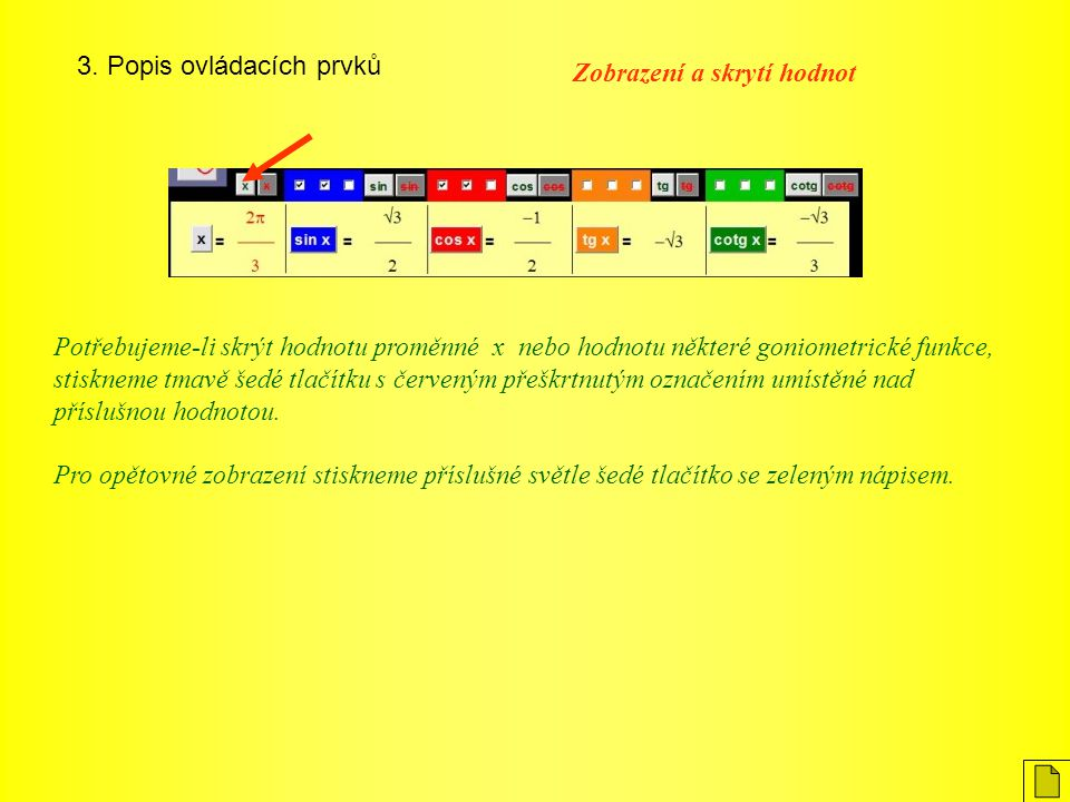 3. Popis ovládacích prvků