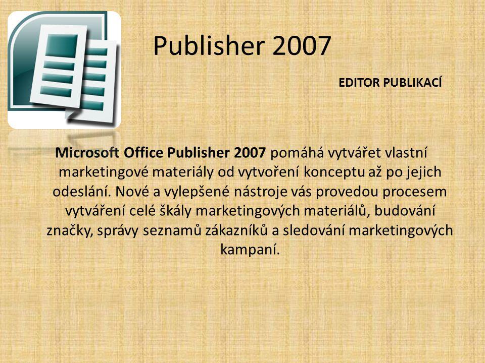 Publisher 2007 EDITOR PUBLIKACÍ.