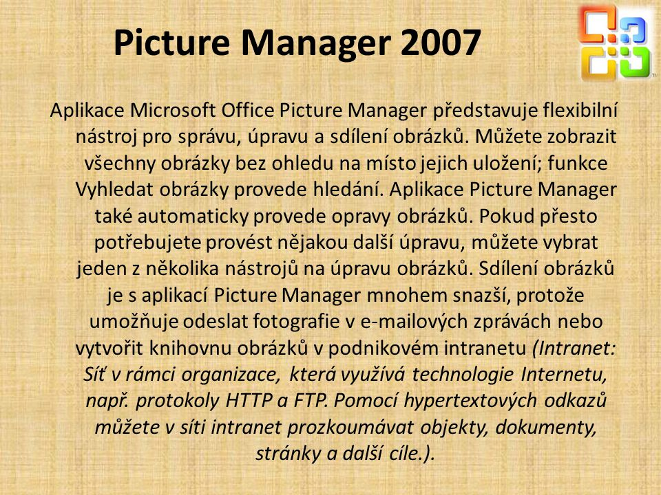 Picture Manager 2007
