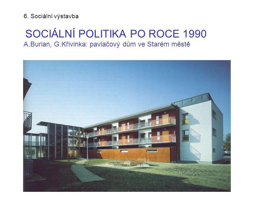 6. Sociální výstavba SOCIÁLNÍ POLITIKA PO ROCE 1990 A. Burian, G