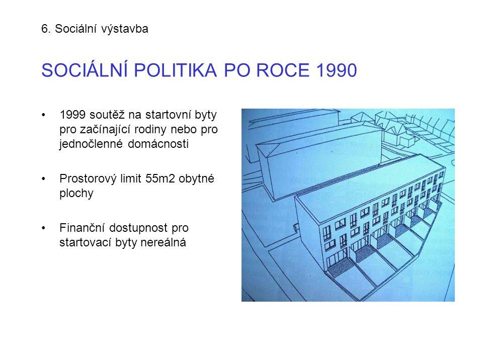 6. Sociální výstavba SOCIÁLNÍ POLITIKA PO ROCE 1990