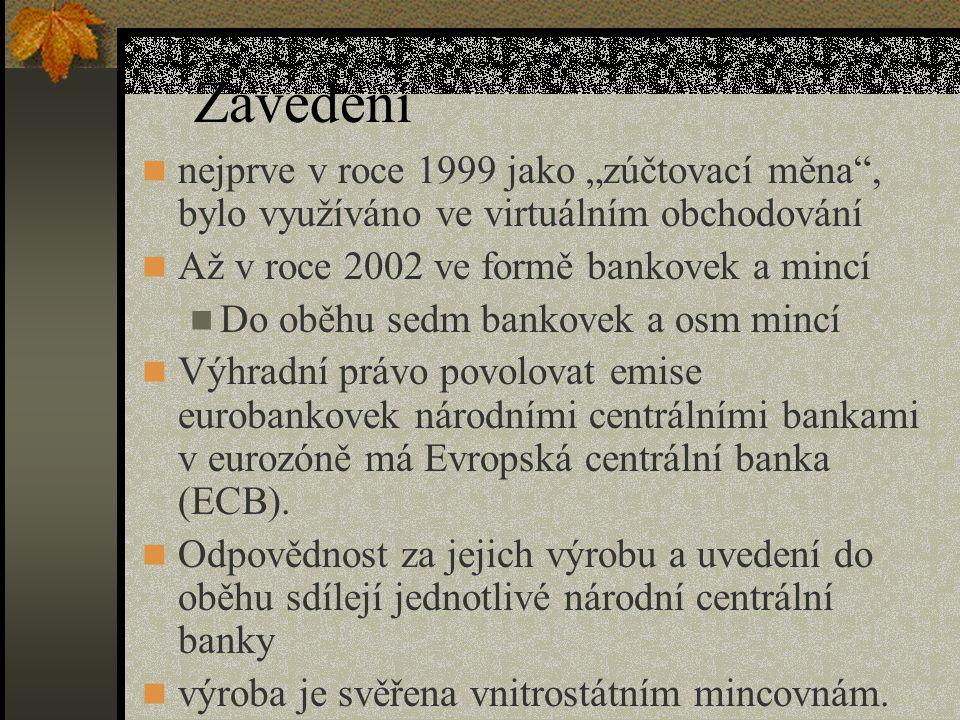 """Zavedení nejprve v roce 1999 jako """"zúčtovací měna , bylo využíváno ve virtuálním obchodování. Až v roce 2002 ve formě bankovek a mincí."""