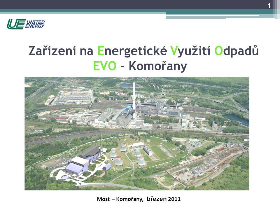 Zařízení na Energetické Využití Odpadů EVO - Komořany