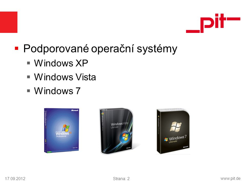 Podporované operační systémy