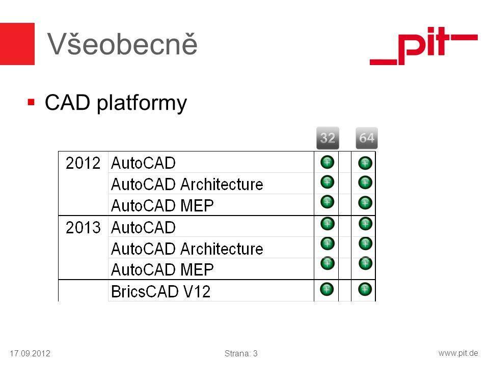 Všeobecně CAD platformy 17.09.2012