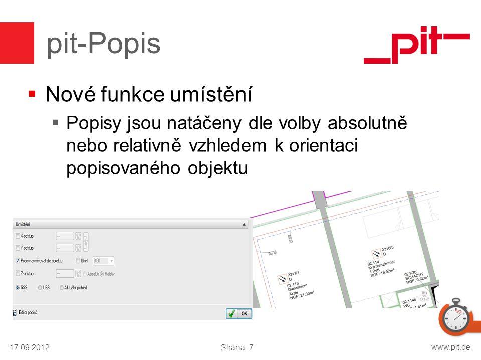 pit-Popis Nové funkce umístění