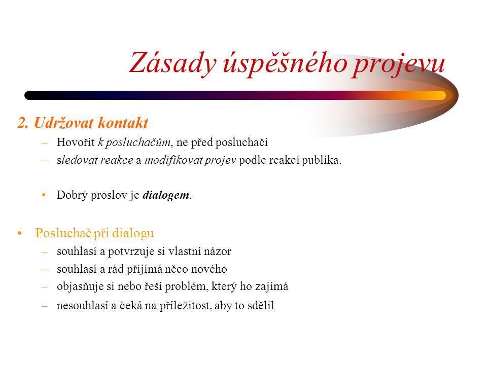 Zásady úspěšného projevu