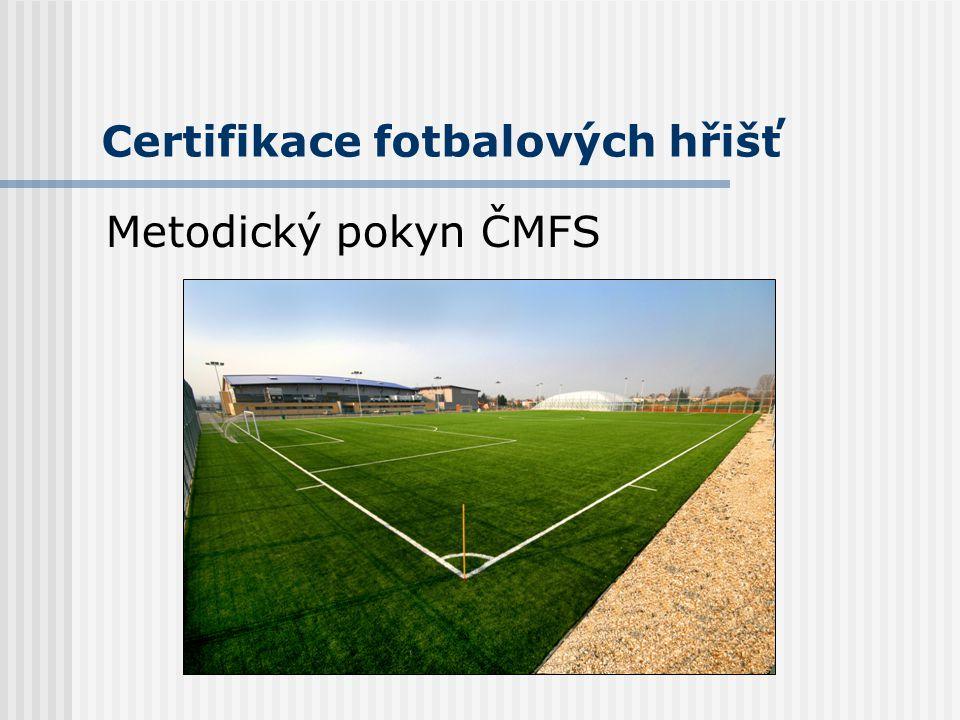 Certifikace fotbalových hřišť