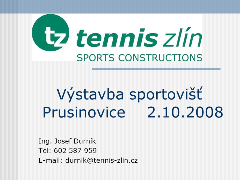 Výstavba sportovišť Prusinovice 2.10.2008