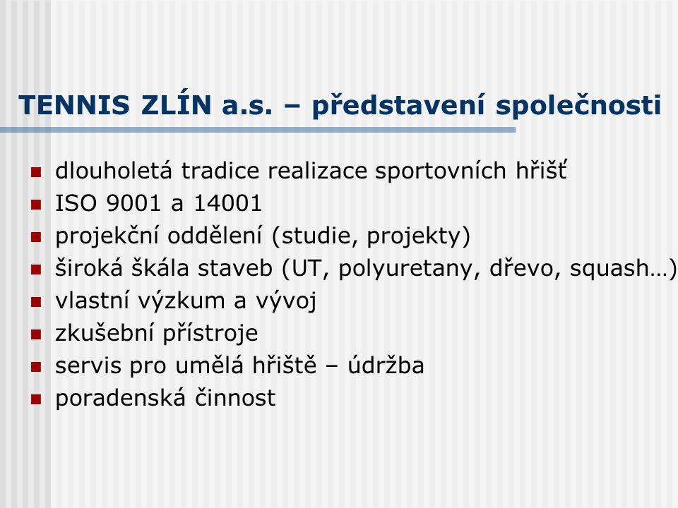 TENNIS ZLÍN a.s. – představení společnosti