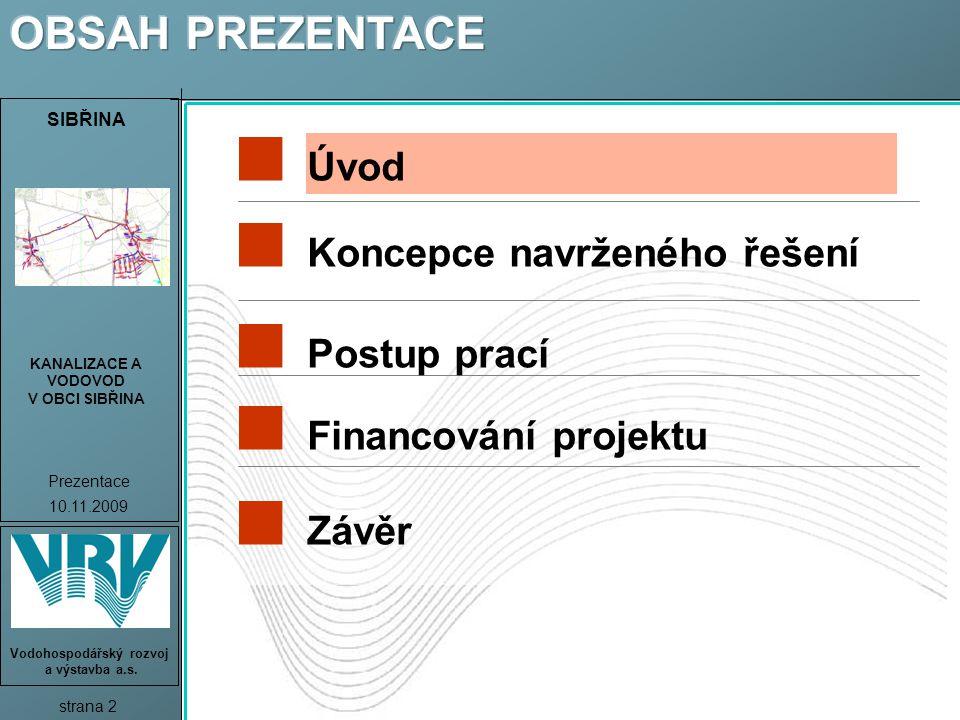OBSAH PREZENTACE Úvod Koncepce navrženého řešení Postup prací