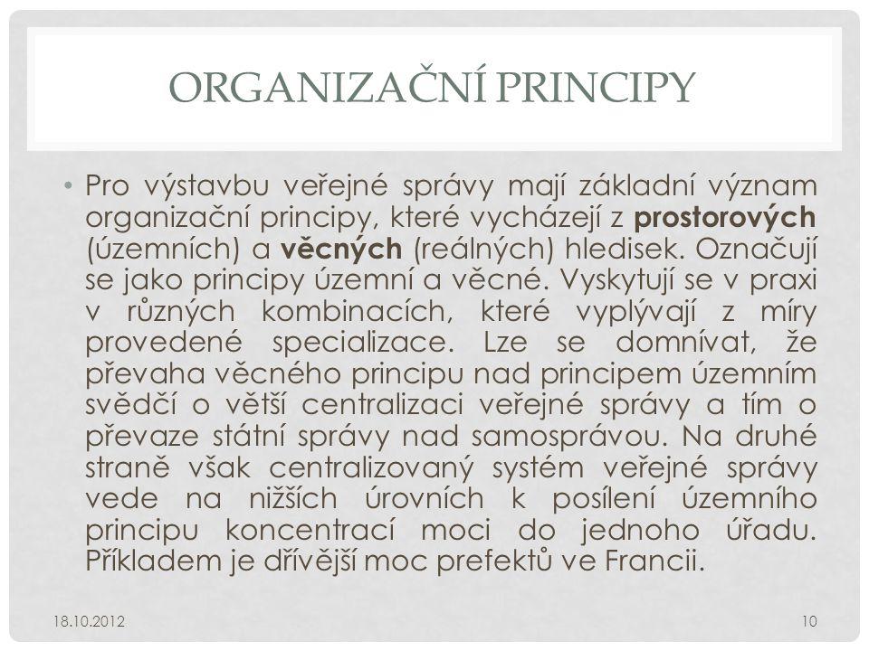 Organizační principy