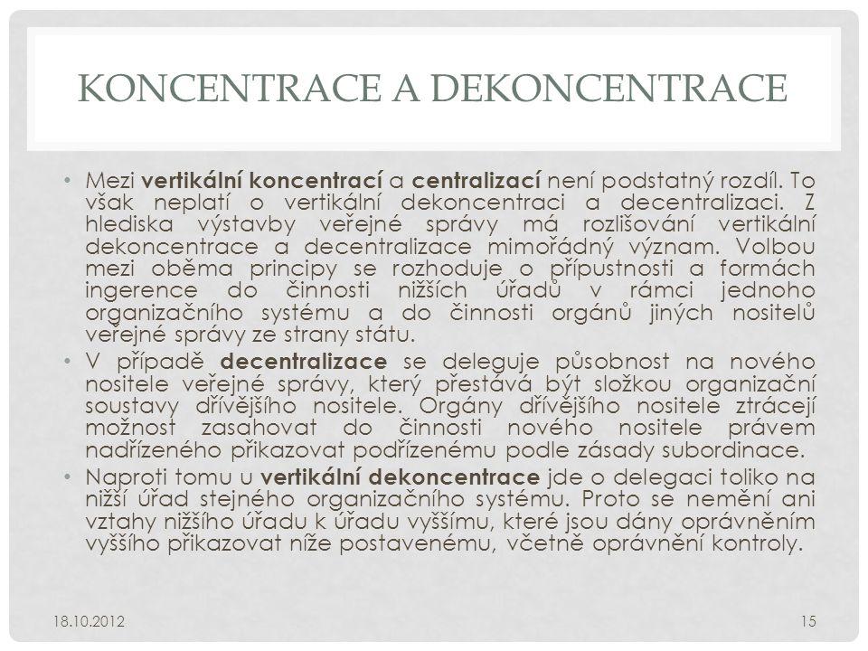 Koncentrace a dekoncentrace