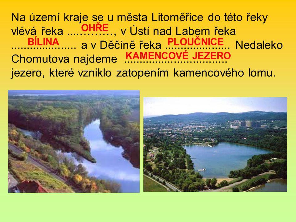 Na území kraje se u města Litoměřice do této řeky vlévá řeka