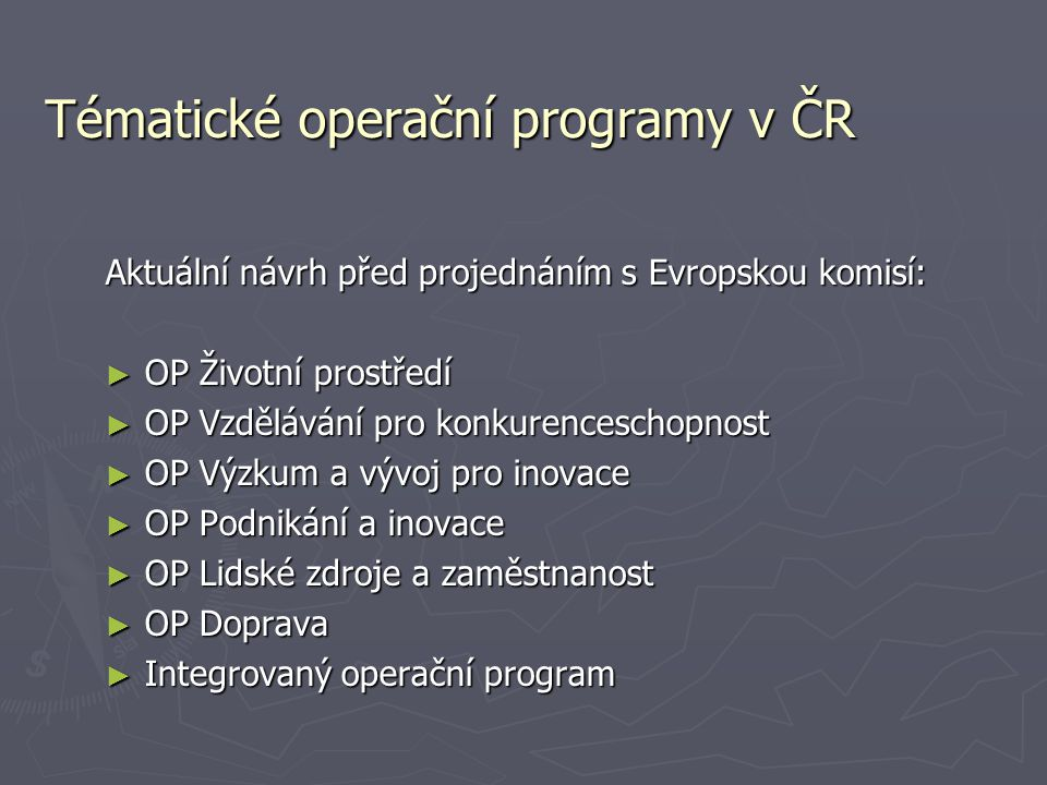 Tématické operační programy v ČR